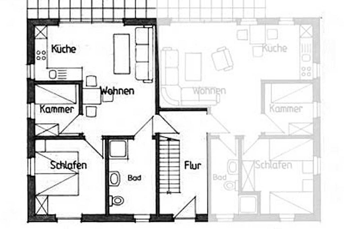 Wohnung 1 - Grundriss