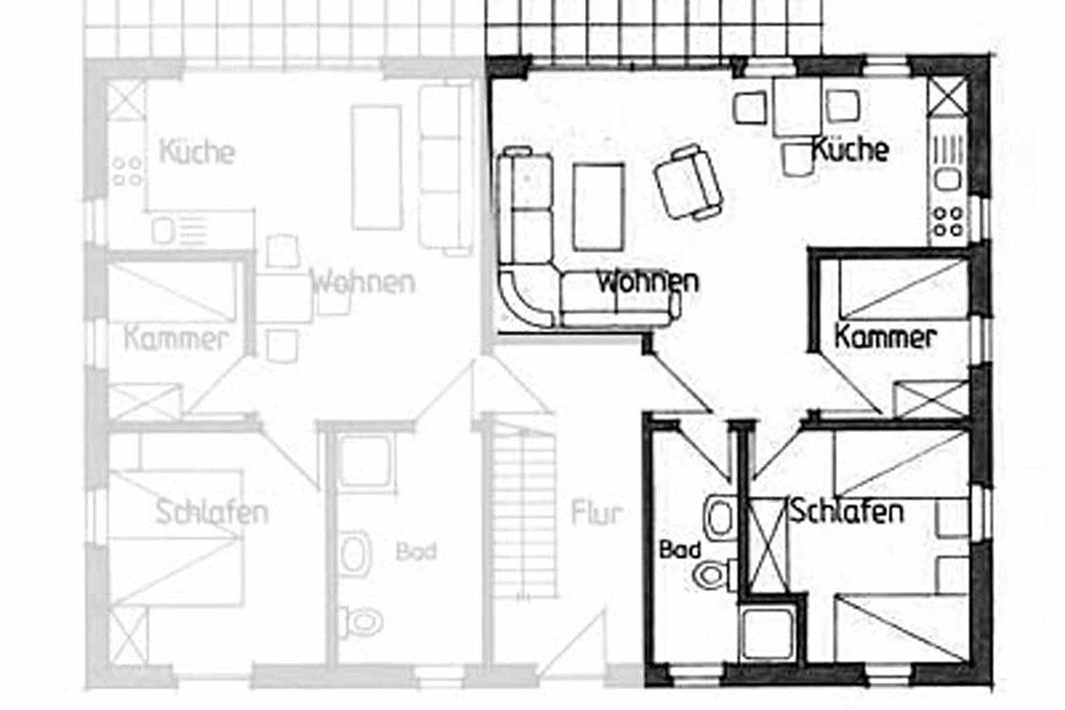 Wohnung 2 - Grundriss